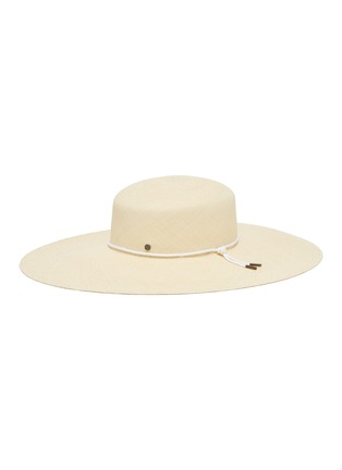 1bf2f4ef06bdb Maison Michel  Little Bianca  shoelace cord straw capeline hat