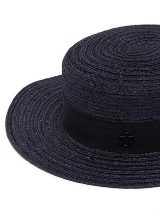 Detail View - Click To Enlarge - Maison Michel - 'Kiki' straw canotier hat