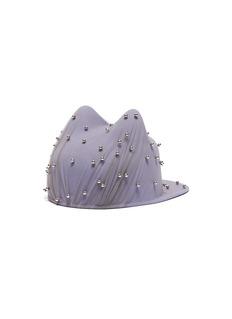 Maison Michel 'Jamie' faux pearl tulle overlay cat ear furfelt cap