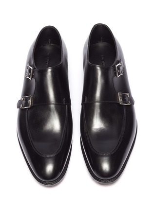 Detail View - Click To Enlarge - JOHN LOBB - 'Sennen' double monk strap leather loafers
