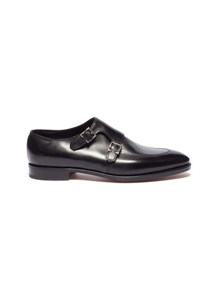 Main View - Click To Enlarge - JOHN LOBB - 'Sennen' double monk strap leather loafers