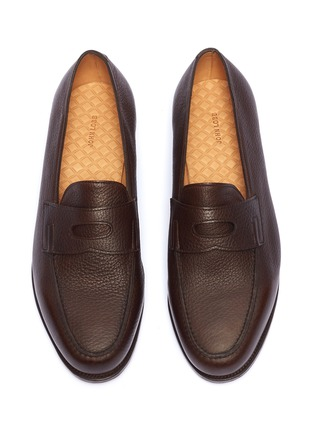 Detail View - Click To Enlarge - JOHN LOBB - 'Lopez' grainy leather penny loafers