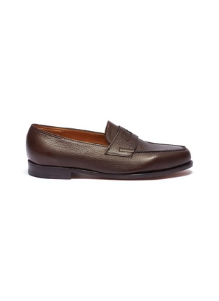 Main View - Click To Enlarge - JOHN LOBB - 'Lopez' grainy leather penny loafers