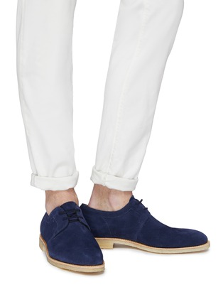 Figure View - Click To Enlarge - JOHN LOBB - 'Drift' suede Derbies