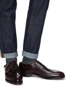John Lobb 'Sennen' double monk strap leather loafers