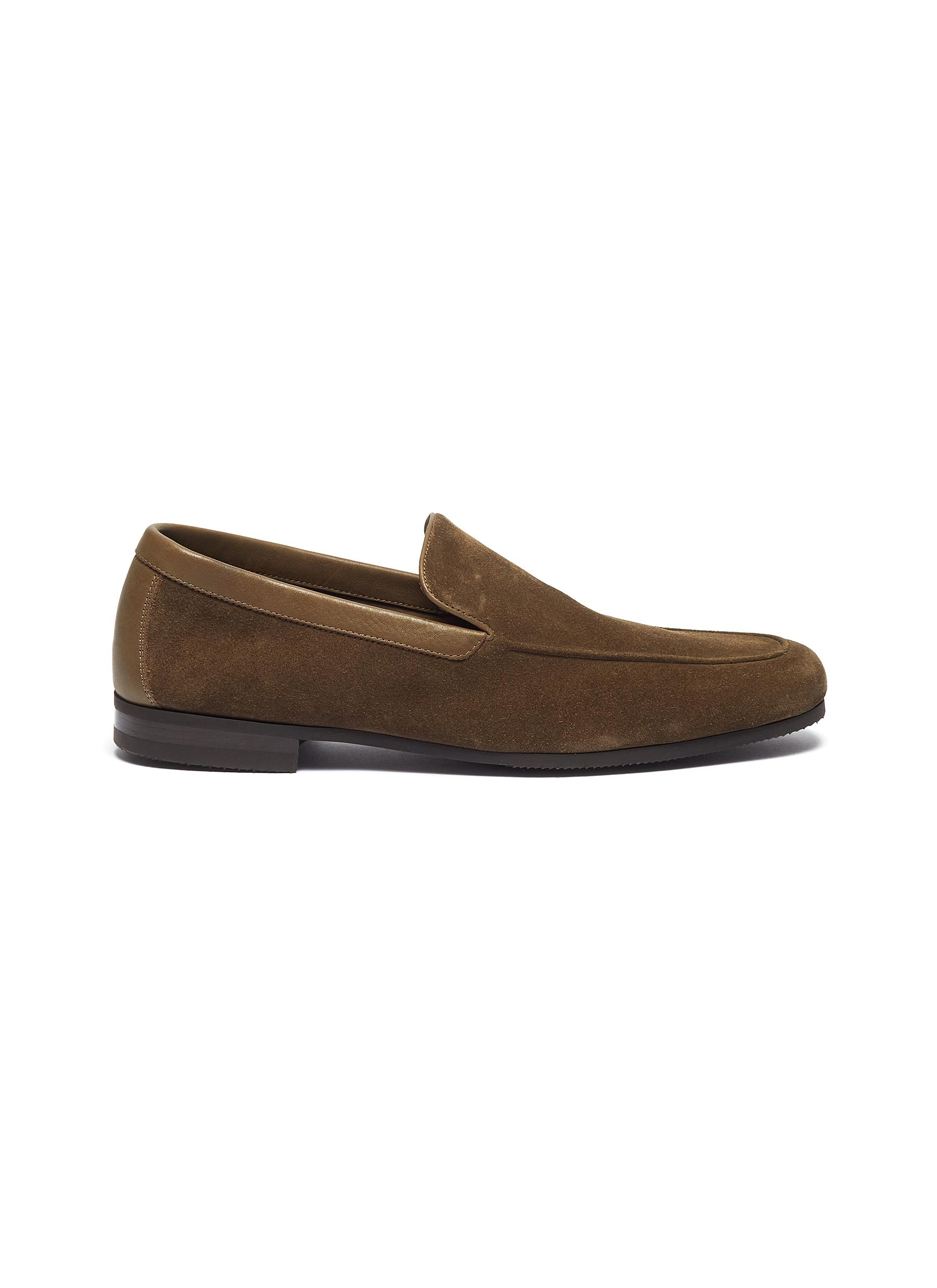 'Tyne' suede loafers