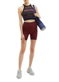 NAGNATA Geometric outseam organic cotton blend knit performance shorts