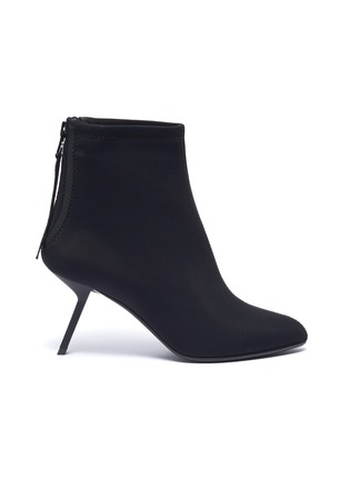 Main View - Click To Enlarge - Alchimia di Ballin - Slanted heel neoprene ankle boots