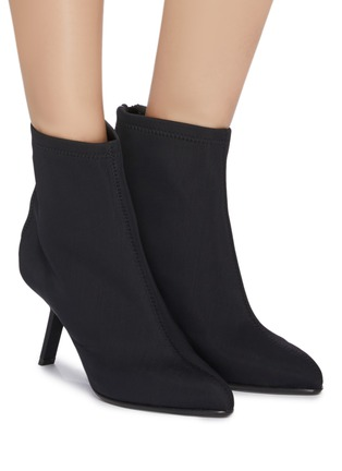 Figure View - Click To Enlarge - Alchimia di Ballin - Slanted heel neoprene ankle boots