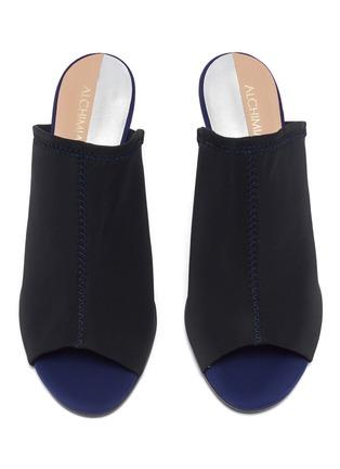 Detail View - Click To Enlarge - Alchimia di Ballin - Slanted heel neoprene sandals