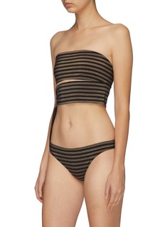 Eres 'Diamond' knot stripe bandeau top