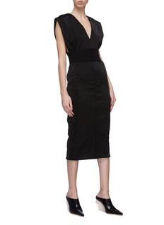 ZAID AFFAS Belted sleeveless V-neck dress