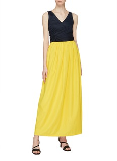 MING MA Ruched maxi skirt