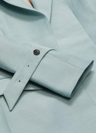- THOMAS PUTTICK - Peaked lapel open blazer