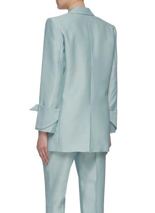 Back View - Click To Enlarge - THOMAS PUTTICK - Peaked lapel open blazer