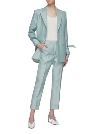 Figure View - Click To Enlarge - THOMAS PUTTICK - Peaked lapel open blazer