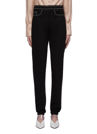 Main View - Click To Enlarge - THOMAS PUTTICK - Contrast topstitching jeans