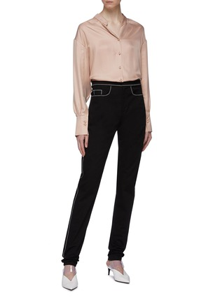 Figure View - Click To Enlarge - THOMAS PUTTICK - Contrast topstitching jeans