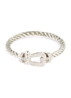 Fred 'Force 10' diamond 18k white gold large buckle