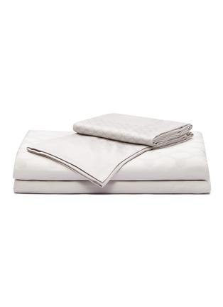 Main View - Click To Enlarge - ANDRÉ FU LIVING - Vintage Modern king size duvet set –Grey on Beige