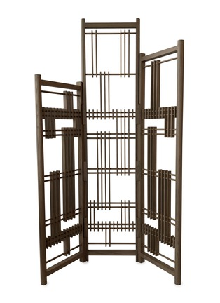 Main View - Click To Enlarge - ANDRÉ FU LIVING - Oak 3-panel screen