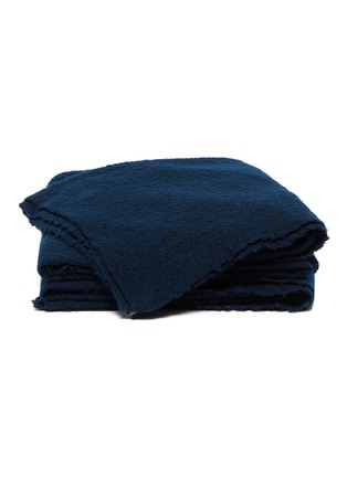 Main View - Click To Enlarge - ANDRÉ FU LIVING - Amarone blanket –Dark Blue