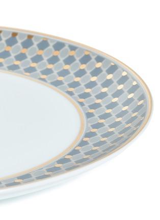 Detail View - Click To Enlarge - ANDRÉ FU LIVING - Vintage Modern border dinner plate –Blue/Gold