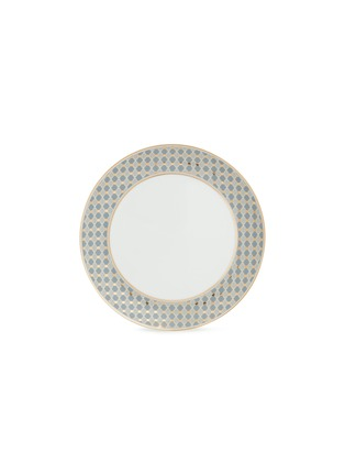 - ANDRÉ FU LIVING - Vintage Modern border dinner plate –Blue/Gold
