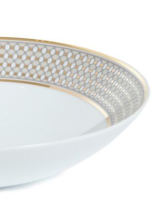 Detail View - Click To Enlarge - ANDRÉ FU LIVING - Vintage Modern border soup plate –Beige/Gold