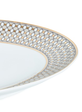 Detail View - Click To Enlarge - ANDRÉ FU LIVING - Vintage Modern large oval serving plate – Beige/Gold