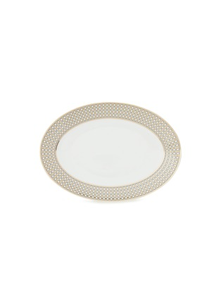 - ANDRÉ FU LIVING - Vintage Modern large oval serving plate – Beige/Gold