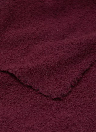 Detail View - Click To Enlarge - ANDRÉ FU LIVING - Amarone blanket –Burgundy