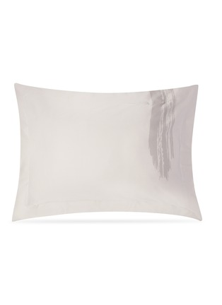 Main View - Click To Enlarge - ANDRÉ FU LIVING - Artisan pillowcase set –Grey on Beige