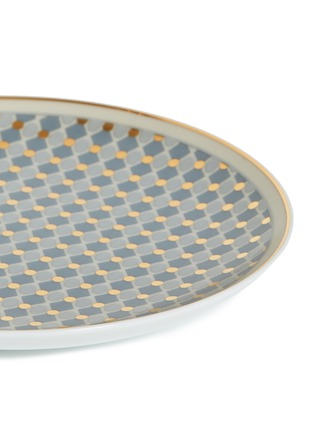 Detail View - Click To Enlarge - ANDRÉ FU LIVING - Vintage Modern bread plate –Blue/Gold