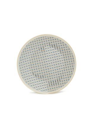 - ANDRÉ FU LIVING - Vintage Modern large round serving plate –Blue/Gold