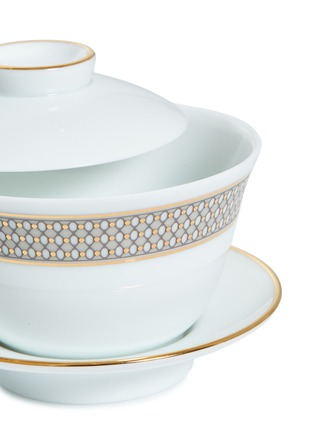 Detail View - Click To Enlarge - ANDRÉ FU LIVING - Vintage Modern Chinese tea cup set –Beige/Gold