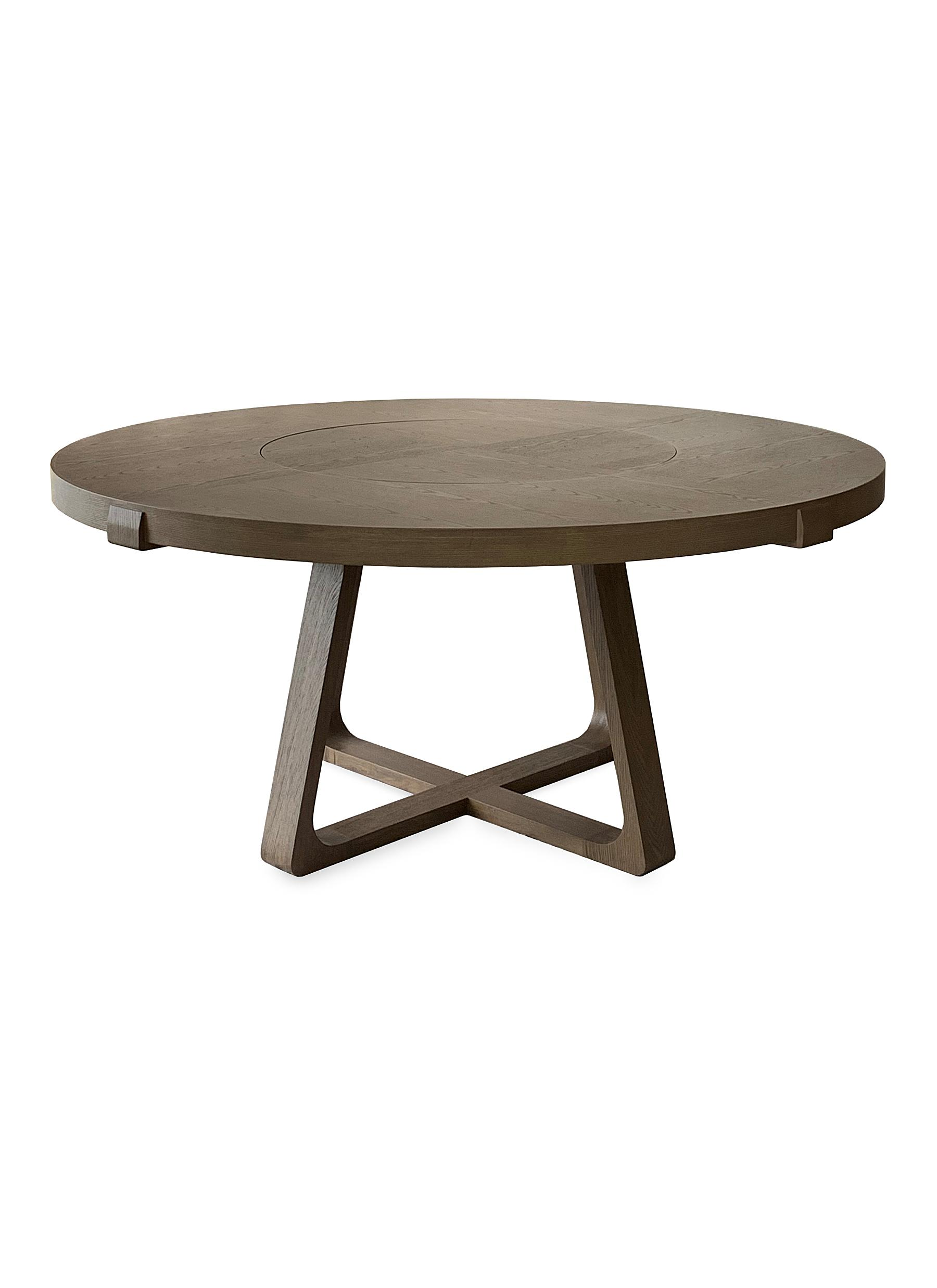 André Fu Living. Lazy Susan oak round dining table 02f3cdfa8