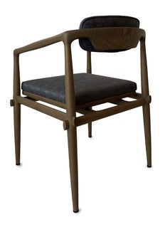 André Fu Living Oak dining arm chair