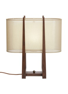 André Fu Living Lantern large oval table lamp – Dark Brown