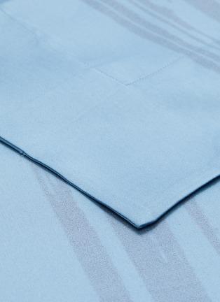 Detail View - Click To Enlarge - ANDRÉ FU LIVING - Artisan king size duvet set –Blue on Blue