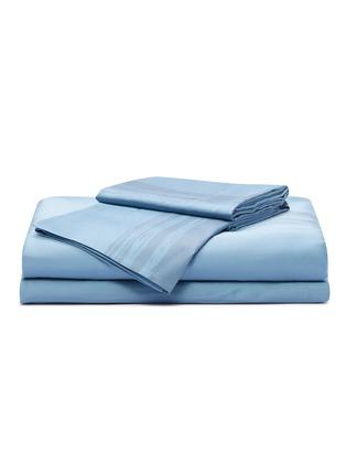 Main View - Click To Enlarge - ANDRÉ FU LIVING - Artisan king size duvet set –Blue on Blue
