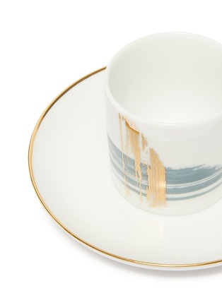 Detail View - Click To Enlarge - ANDRÉ FU LIVING - Brush coffee cup and saucer set