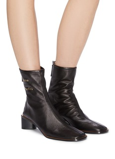 Acne Studios 'Bertine' triangular heel leather ankle boots