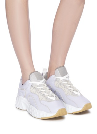 Figure View - Click To Enlarge - ACNE STUDIOS - Chunky outsole patchwork leather sneakers