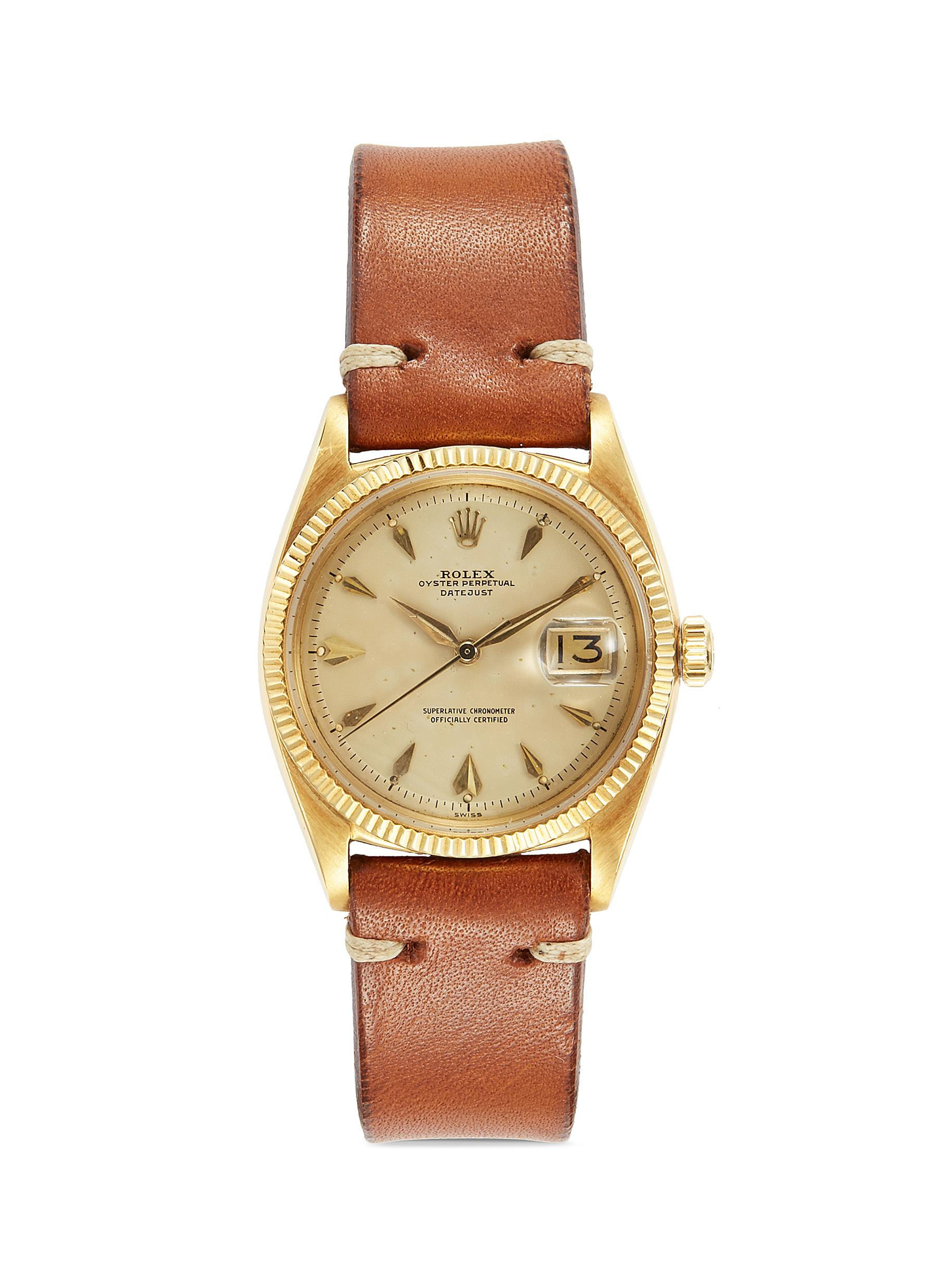 6888c8c96dd1d Lane Crawford Vintage Collection. Rolex DateJust Oyster Perpetual 18k  yellow gold 6605 watch