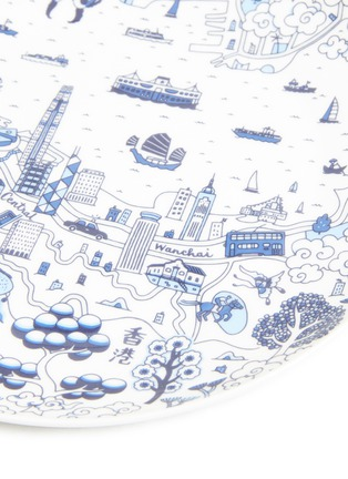 Detail View - Click To Enlarge - FAUX - Willow dessert plate set –Blue