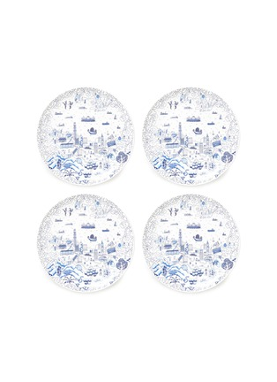 Main View - Click To Enlarge - FAUX - Willow dessert plate set –Blue