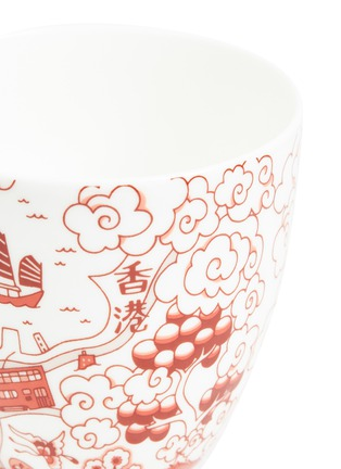 Detail View - Click To Enlarge - FAUX - Willow Chinese tea cup set – Red