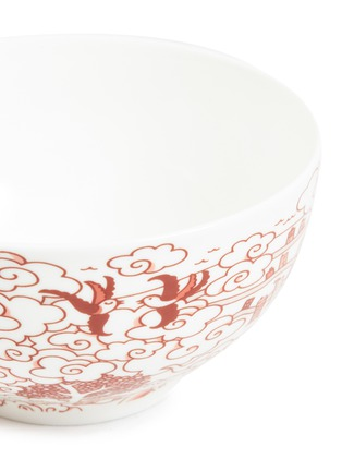 Detail View - Click To Enlarge - Faux - Willow soup bowl set – Red