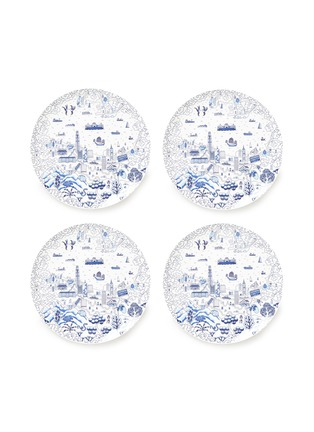 Main View - Click To Enlarge - FAUX - Willow large dinner plate set –Blue